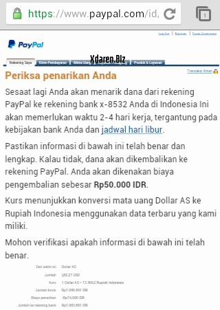 konfirmasi kirim duit dari paypal ke bank indonesia
