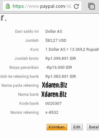 kirim duit dari paypal ke bank Indonesia